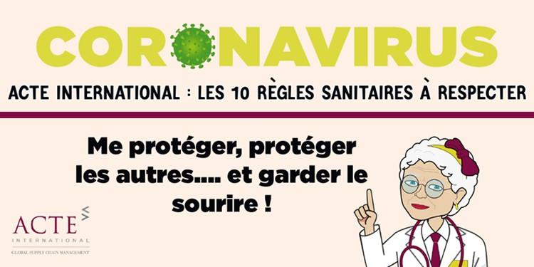 COVID-19 : les règles sanitaires chez ACTE international ! - ACTE ...